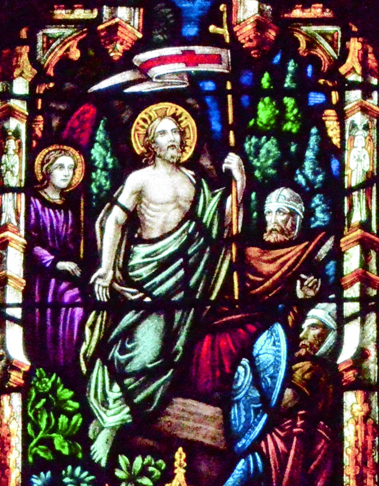 Christ's resurrection from the tomb.